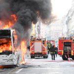 20 человек стали жертвами возгорания автобуса в Перу
