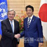 Абэ и Гутерреш обменялись мнениями по проблеме денуклеаризации КНДР