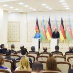 Состоялась совместная пресс-конференция Президента Азербайджана и Федерального канцлера Германии