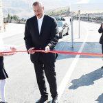 Президент Ильхам Алиев и Первая леди Мехрибан Алиева приняли участие в открытии новой автодороги Демирчи-Лагидж