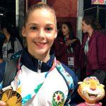 Азербайджанская гимнастка выиграла золото Юношеской Олимпиады