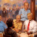 Висящая в Белом доме картина с Трампом ужаснула пользователей Twitter