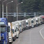 Около 1200 грузовиков встали в очередь на выезде из Беларуси в страны ЕС