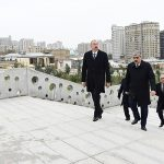 """Глава государства ознакомился с работами по благоустройству территории вокруг мечети """"Тезепир"""""""