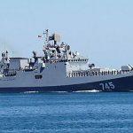 Россия отправила вАзовское море военный корабль