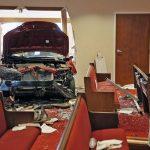 Водитель врезался в стену церкви в городе Колумбус