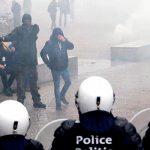 Правые радикалы устроили столкновения с полицией в Брюсселе