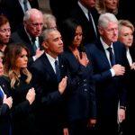 Пятеро американских президентов собрались на похоронах Джорджа Буша-старшего