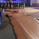 В ФРГ около тонны шоколада оказалось на улице из-за аварии на кондитерской фабрике