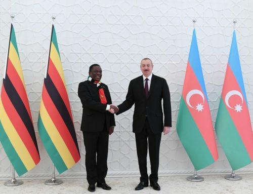 Президенты Азербайджана и Зимбабве провели встречу