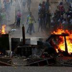 Во время протестов в Венесуэле сожгли полицейский участок