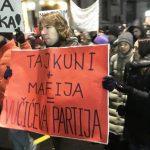 В Белграде в седьмую субботу подряд прошли акции протеста