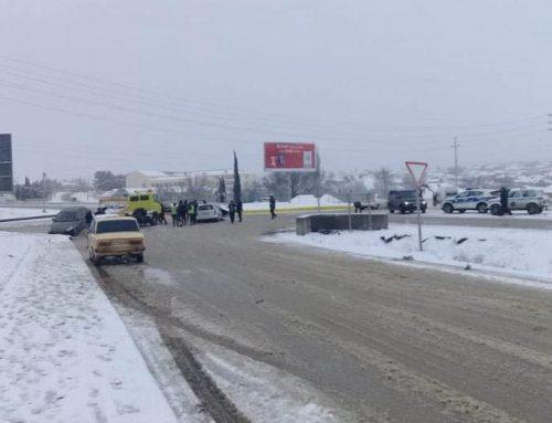 На трассе Баку-Евлах произошла цепная авария