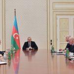 При президенте Ильхаме Алиеве состоялось совещание, посвященное экономическим и социальным вопросам