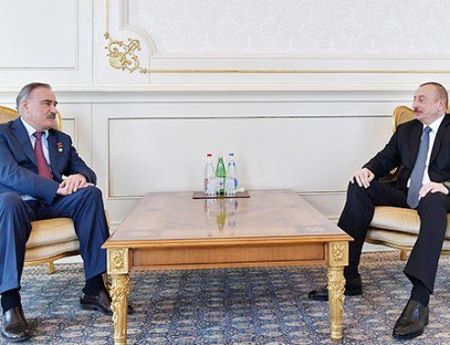 Ильхам Алиев принял Героя Советского Союза, генерал-лейтенанта Руслана Аушева