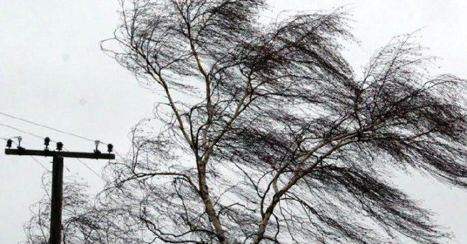 Ветер на территории Азербайджана начал стихать