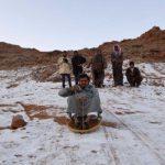 На севере Саудовской Аравии выпал снег