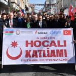 В Стамбуле состоялось шествие в связи с 27-й годовщиной Ходжалинского геноцида