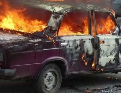 В Ясамальском районе Баку сгорел «ВАЗ»