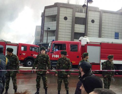 Минздрав о пострадавших в результате крупного пожара в Баку
