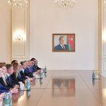 Ильхам Алиев принял делегацию Российского еврейского конгресса