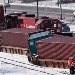 Два поезда столкнулись в Канаде