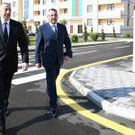 Ильхам Алиев принял участие в открытии жилкомплекса в Кюрдаханы