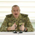 Президент Ильхам Алиев поздравил начальника и личный состав ГПС с водружением флага Азербайджана на Худаферинском мосту