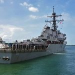 Американский эсминец Porter направляется в Черное море
