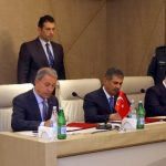 Состоялась трехсторонняя встреча министров обороны Азербайджана, Турции и Грузии