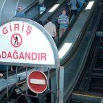 """На станции метро """"Низами"""" ремонтируется один из эскалаторов"""