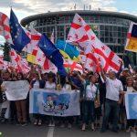 """В Тбилиси проходит """"Марш свободы"""" с требованием отставки главы МВД"""