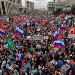 Митинг за свободные выборы в Москве собрал более 20 тысяч человек