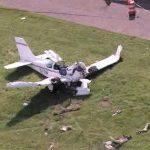 В результате падения легкомоторного самолета на дом в США погиб один человек