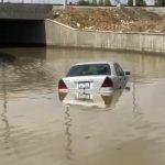 Новую дорогу рядом с сабунчинским автовокзалом затопило ВИДЕО