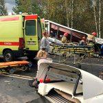 При столкновении фуры и автобуса под Ярославлем погибли девять человек
