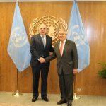 Эльмар Мамедъяров обсудил нагорно-карабахский конфликт с генеральным секретарем ООН