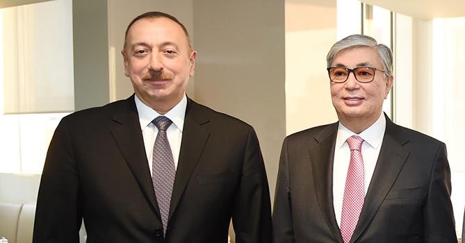 Состоялся телефонный разговор президента Ильхама Алиева с президентом Казахстана