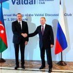 В Сочи состоялась встреча Ильхама Алиева с Владимиром Путиным