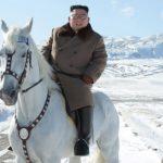 Ким Чен Ын поднялся на священную гору Пэктусан на белом коне