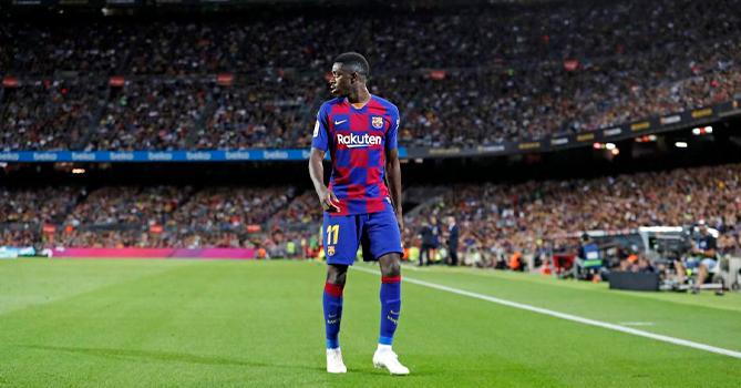 Дембеле вернулся в Барселону