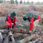 В Гяндже обнаружены ржавые авиабомбы