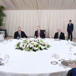 Ильхам Алиев принял участие в приеме в честь участников церемонии открытия части TANAP