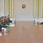 Ильхам Алиев принял делегацию во главе с начальником Генштаба ВС России