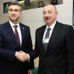 Ильхам Алиев встретился в Давосе с министром иностранных дел Хорватии