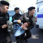 Несанкционированный митинг в Алматы. Десятки задержанных