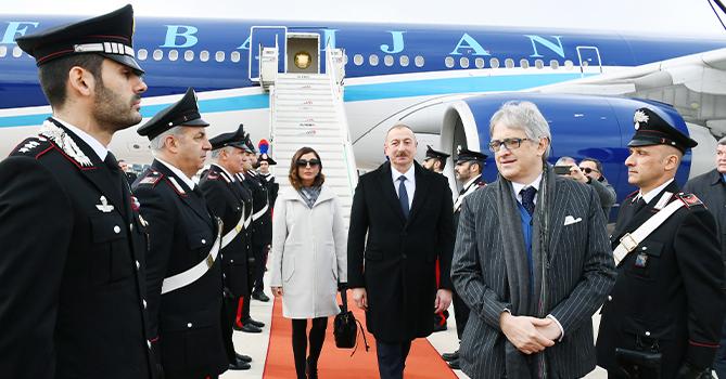 Президент Ильхам Алиев находится с визитом в Италии