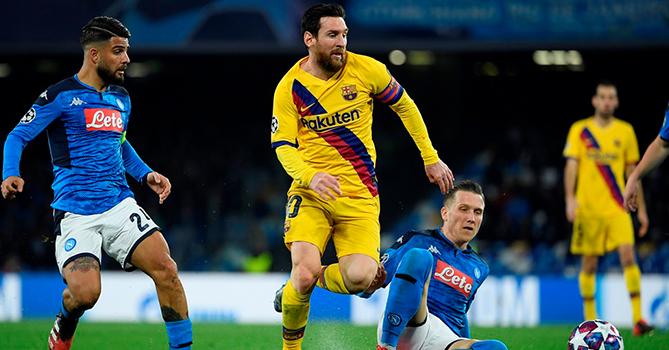 «Барселона» и «Наполи» сыграли вничью, «Бавария» разнесла «Челси»