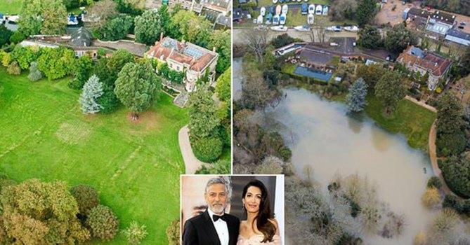 Поместье Джорджа Клуни за более $15,5 млн затопило