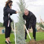 Ильхам Алиев и Первая леди Мехрибан Алиева посадили дерево в честь дня рождения великого лидера Гейдара Алиева